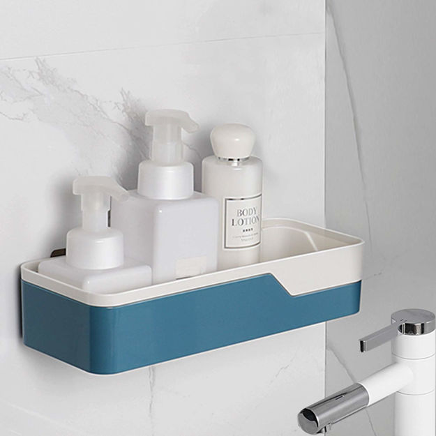 Picture of Bathroom Shelf AS+ABS+SEBS+PC Magic Sticker Series Shower Caddy (Standard Size, Blue)