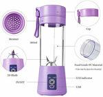 Picture of Portable USB Electric Blender Juicer Electric Juice Maker Machine for Fruits and Vegetables 380ml Juicer Cup Bottle 4 Blade (Multicolor)