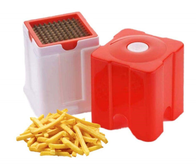 Picture of Potato and Vegetable Cutter French Fries Slicer Chips Chipser Maker (Multicolor)