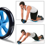 Picture of Anti Skid Double Wheel Total Body AB Roller with Thick Knee Pad Mat Exerciser for Abdominal Stomach Exercise Training for Men and Women (Multi Color)