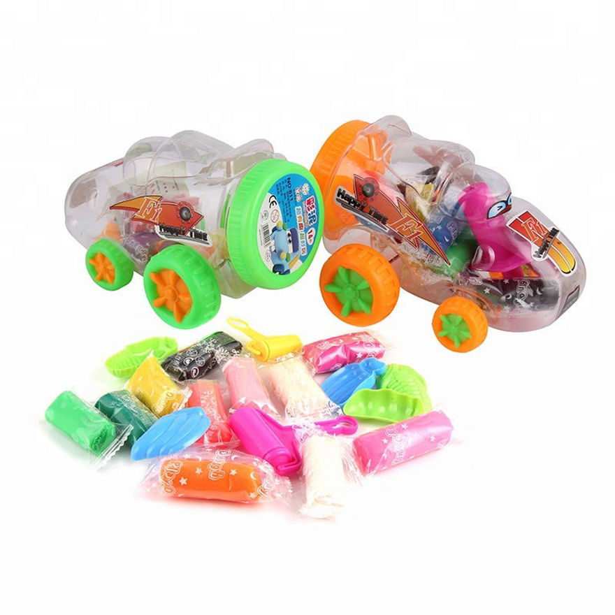 Picture of Four Wheeler Toy Car With Clay and Mold Toys With 12 Pcs Clays, 4 Pcs Molds and 4 Wheel Car Shaped Bucket