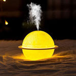 Picture of 2 in 1 Moon Lamp Cool Mist Humidifiers for Living Room Bedroom Table Desk Oil Diffuser Aroma Air Humidifier with Led Night Light humidifier for Home- Colorful Change for Car and Room