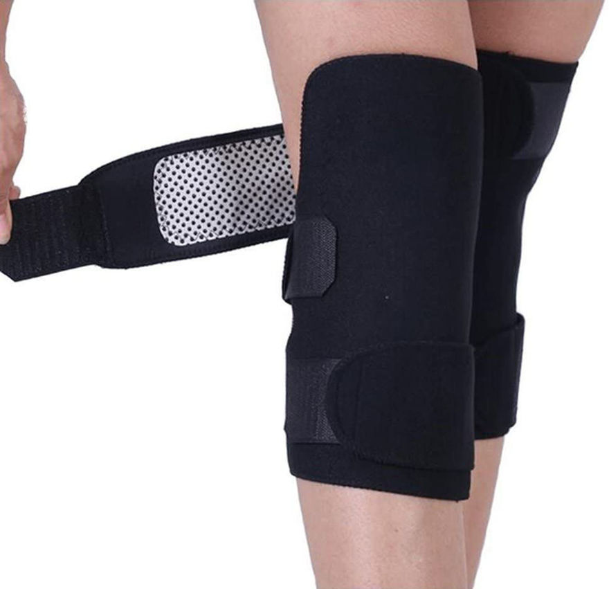Picture of Adjustable Self-Heating Knee Pads Magnetic Tourmaline Therapy Knee Support Brace Arthritis Joint Pain Relief Belt with Basic Open Patella Stabilizer