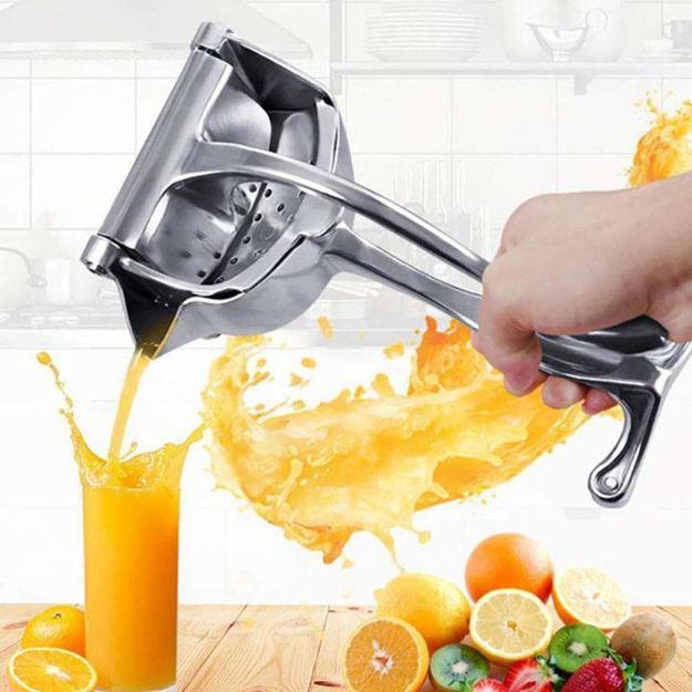 Picture of Heavy Duty Aluminium Manual Fruit Juicer Manual Citrus Press Juicer for Grapefruits Lemon, Orange Press Squeezer (Silver)