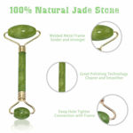 Picture of Marble Jade roller Face Massager Double Rollers Antiaging Face Eye Neck Foot Massage Tool Stimulating Blood Flow (Green)