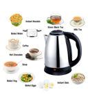 Picture of BLACK FOX ENTERPRISE Tea/Coffee/Milk Water Boiler 2 Liter 1500 Watt Stainless Steel Electric Kettle Electric Kettle  (2 L, Silver)