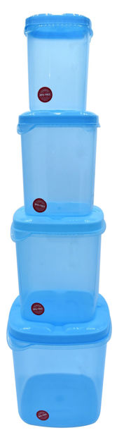 Picture of Kitchen Container Set, Food Storage Container, Plastic Container, Storage Box, Masala box, Dibba - 500 ml, 1000 ml, 1500 ml, 2000 ml Plastic Utility Container (4 Pack)