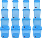 Picture of Kitchen Container Set, Food Storage Container, Plastic Container, Storage Box, Masala box, Dibba - 500 ml, 1000 ml, 1500 ml, 2000 ml Plastic Utility Container (16 Pack)