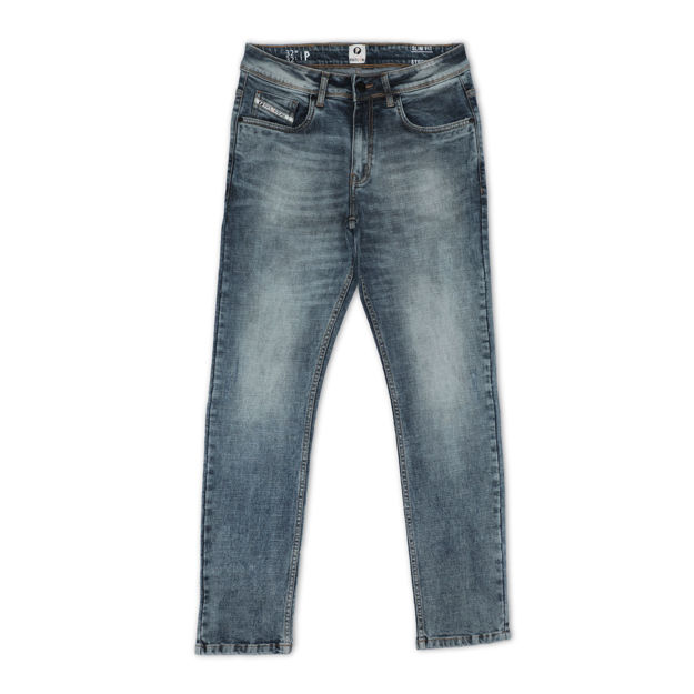 Picture of Men's Light Grey Regular Stretchable Jeans
