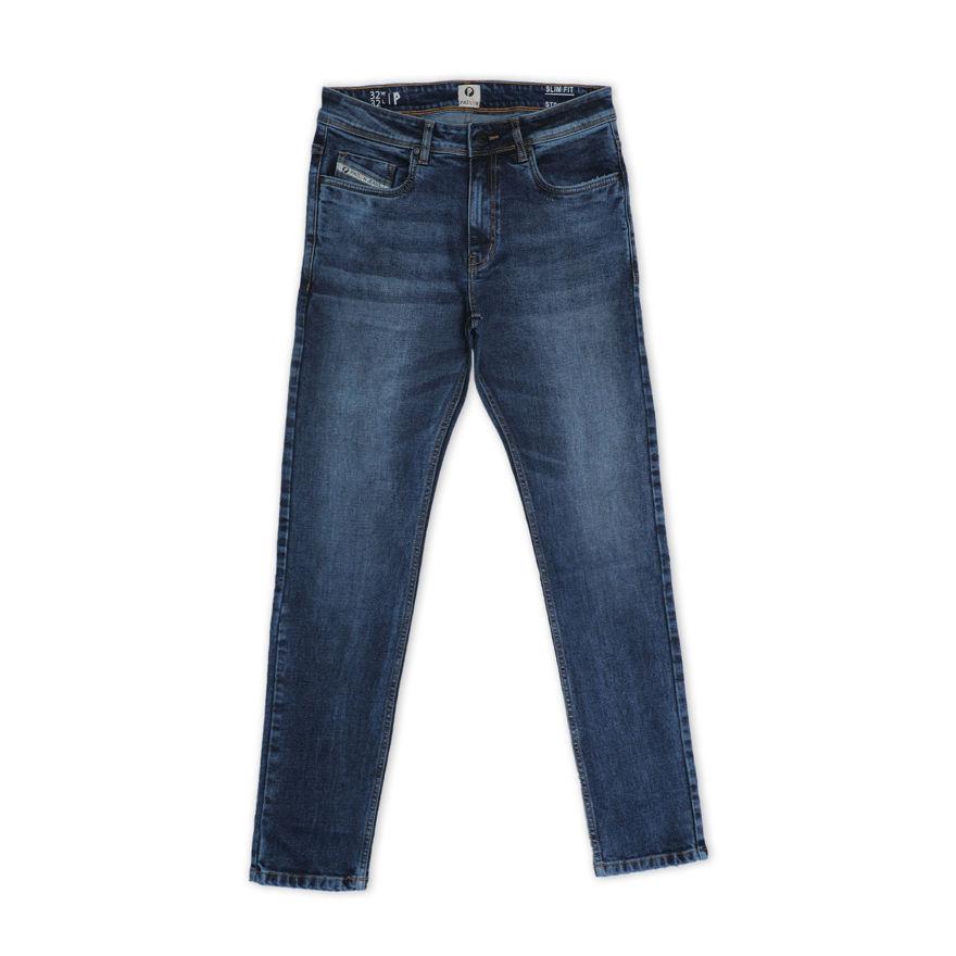 Picture of Men's Blackish Blue Regular Stretchable Jeans