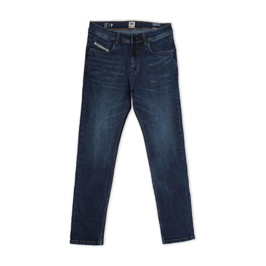 Picture of Men's Dark Blue Regular Stretchable Jeans