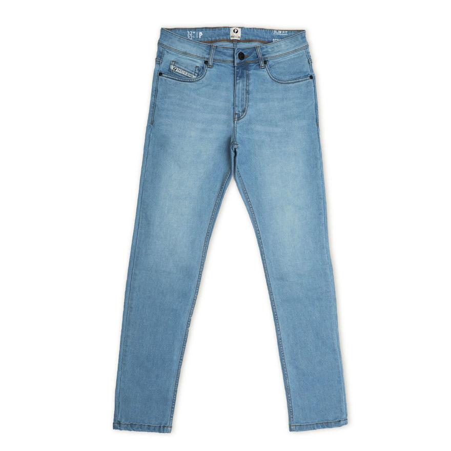 Picture of Men's Light Blue Regular Stretchable Jeans